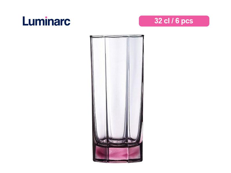 Luminarc Gelas Minum Octime Tumbler 32 Cl Ice Pink / 6 Pcs