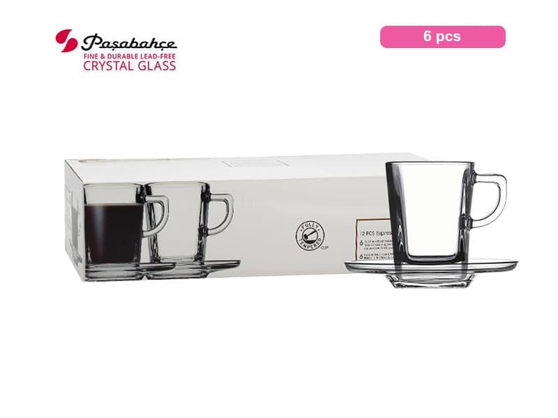 Pasabahce Gelas Minum Carre Espresso 7.2 Cl Set / 6 pcs