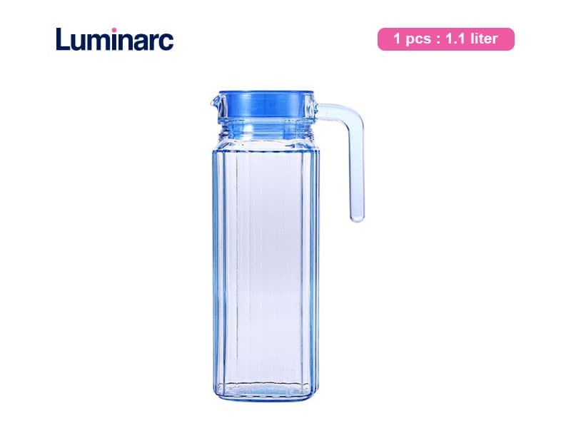 Luminarc Teko Air Quadro Jug 1.1 Ltr Ice Blue / Pcs