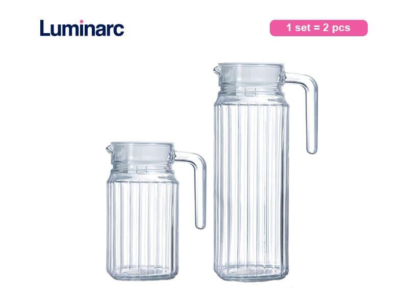Luminarc Teko Quadro Jug 1 Ltr + 0.5 Ltr Set / 2 Pcs