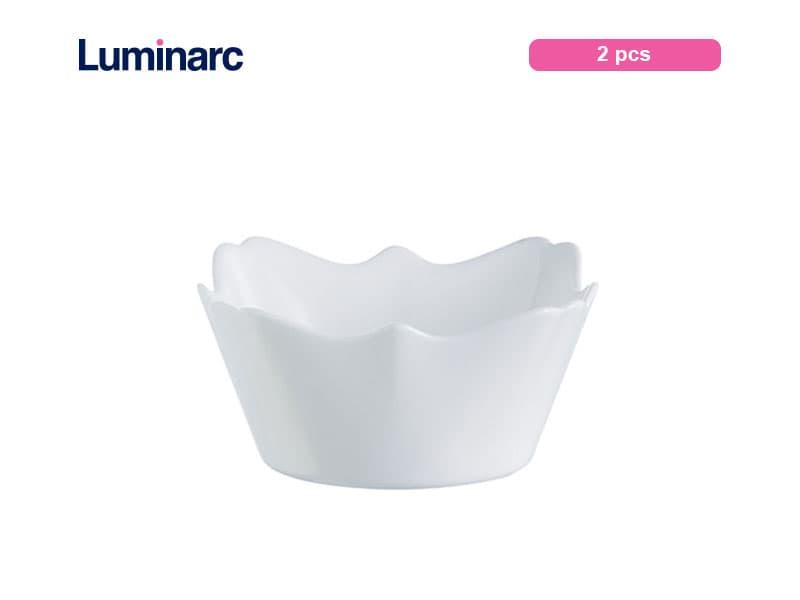Luminarc Mangkuk Kecil Authentic White Bowl 12 Cm / 2 Pcs
