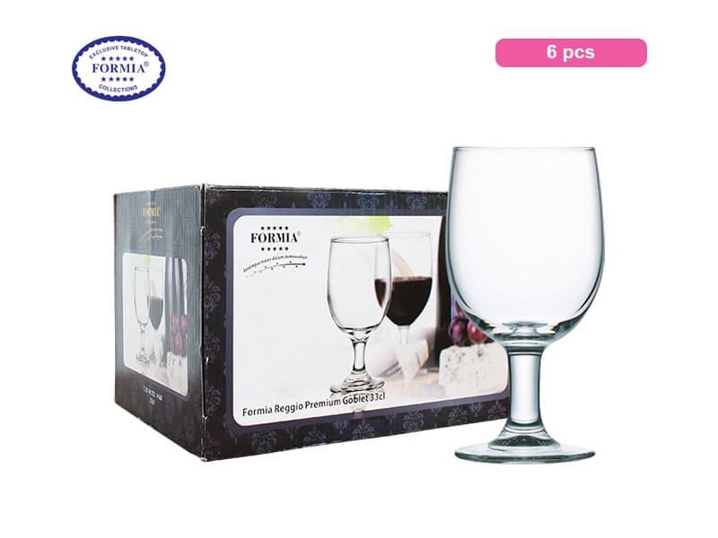 Formia Gelas Minum Berkaki Reggio Premium Water Goblet 33 Cl / 6 Pcs