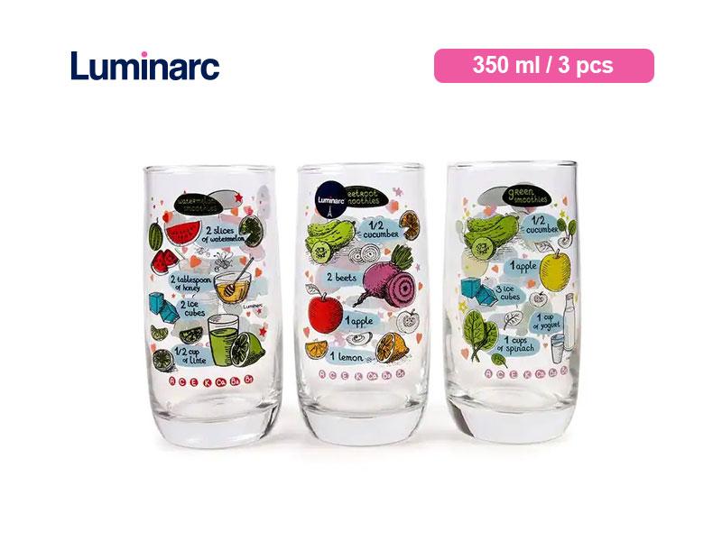 Luminarc Gelas Minum Vigne Bermotif  Set 350 Ml / 3 pcs
