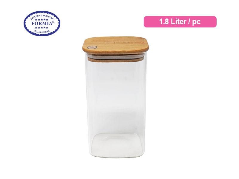 Formia Toples Tutup Kayu 1.8 Liter / Pc