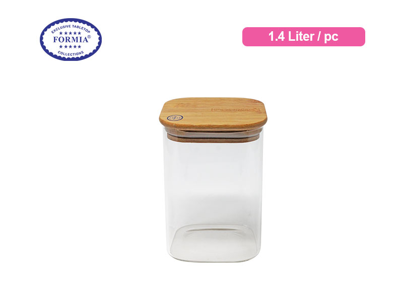 Formia Toples Tutup Kayu Petak 1.4 Liter / Pc
