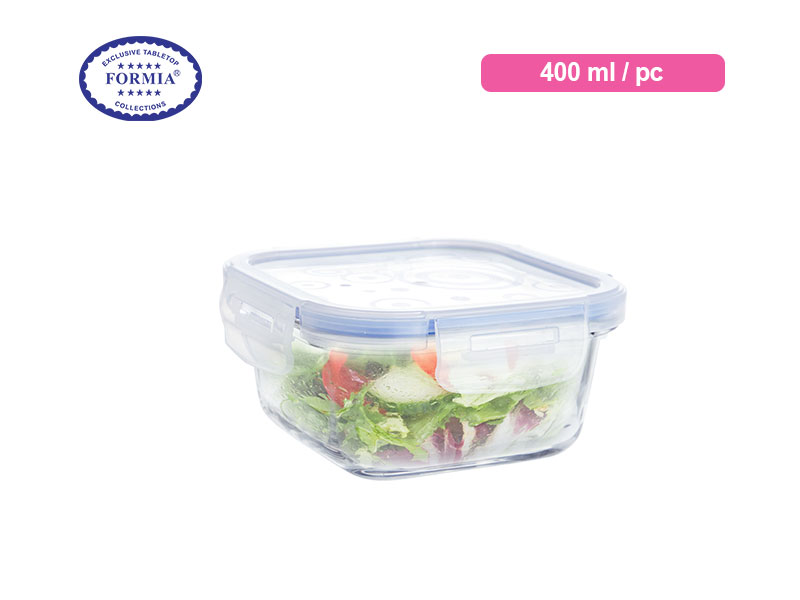 Formia Kotak Makan Storebox Square Blue Lid 400 Ml / Pc