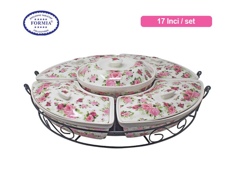 Formia Penyaji Makanan Grand Royal Rose Buffet 17 Inchi / Set