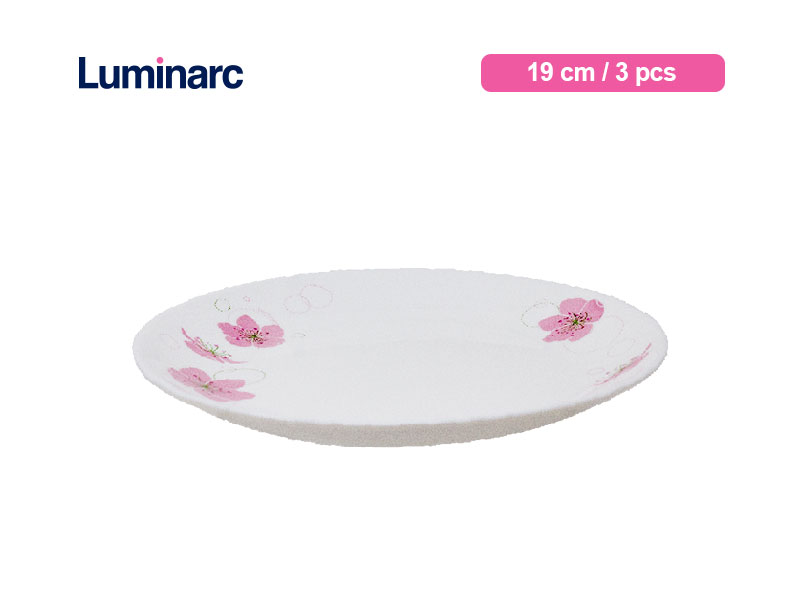 Luminarc Piring Kue Diwali Ikumi 19 cm / 3 pcs
