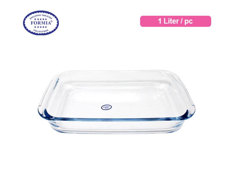 Formia Penyaji Makanan Bake & Serve Rectangular Loaf Dish 1 Liter / pc